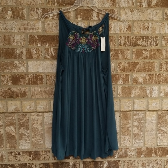 One September Tops - NWT One September By Anthropologie Blue Top Size L